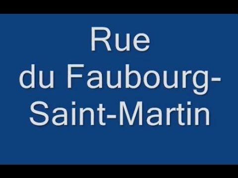 Rue du Faubourg Saint Martin Paris Arrondissement  10e