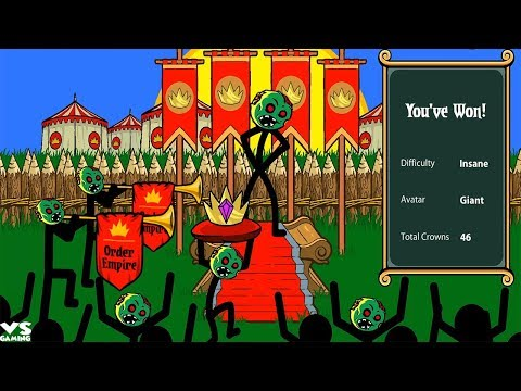Stick War Legacy Tournament Insane Mode 46 Crowns of Inamorta - Android GamePlay HACKED