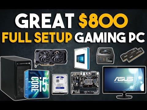 Great $800 Full Setup Gaming PC Build 1080p Gaming PC January 2017