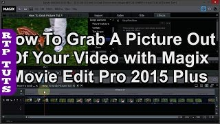 Magix Movie Edit Pro Plus: How To Grab a Picture from a Video (Exporting a single frame as jpeg).