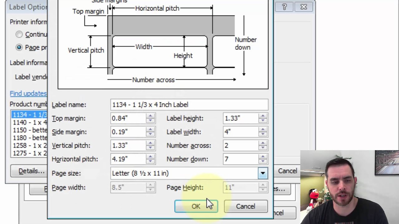 how do i print labels in word [ 1280 x 720 Pixel ]
