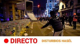 EN DIRECTO 🔴 BARCELONA: 6ª noche de INCIDENTES en apoyo al rapero HASÉL | RTVE Noticias