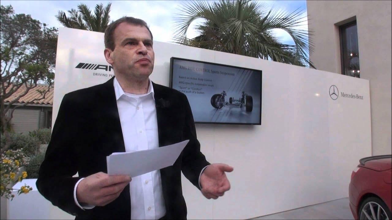 Mercedes Benz Sl63 Amg Presented By Tobias Moers Head Of