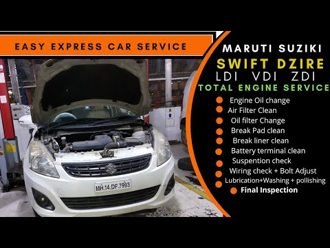 My swift complete servicing at authories Maruti service center