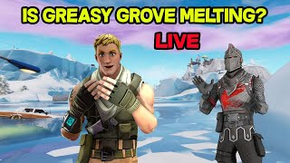 IS GREASY GROVE MELTING!? - FORTNITE STREAMER - GIVEAWAY @ 900 SUBS!