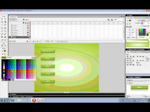 Tutorial cara 1 mendesain kerangka multimedia interaktif antar scene dengan Flash