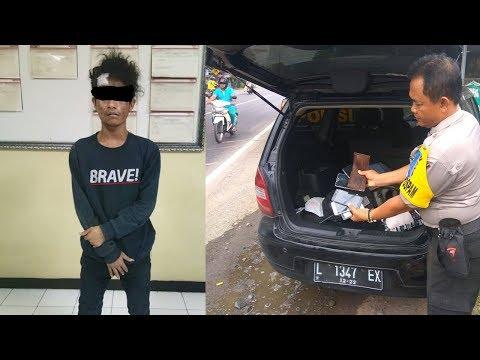 Komplotan Pencopet Di Festival Tahu Kediri Ditangkap, Polisi Temukan 26 Handphone Di Mobil Pelaku