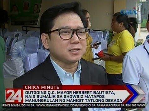 24 Oras: Herbert Bautista, nais bumalik sa showbiz