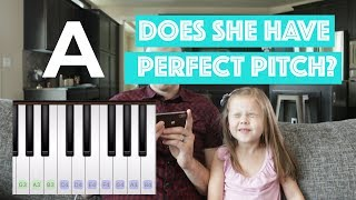 REAL PERFECT PITCH TEST!! - 5-Year-Old Claire Ryann Crosby