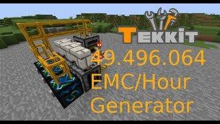 [Tekkit] Schnellster und kleinster EMC Generator (49.496.064 EMC/Stunde)