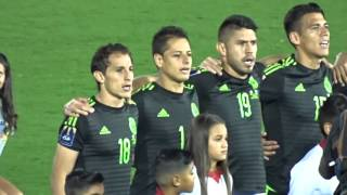 National Anthem Of Mexico And Usa At Concacaf Cup Rose Bowl Oct 10