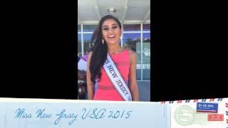 MISS NEW JERSEY USA 2015 Saluda a CNBM desde Doral, Florida en Miss Universo 2014.