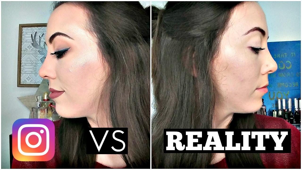 Instagram Vs Reality Makeup Tutorial