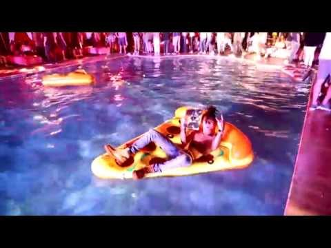 Swae Lee Of Rae Sremmurd Falls Into The Pool At FirstSlice.com's Pizza Party