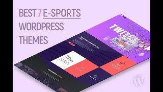 Gamer & E-Sports Wordpress Themes 2019