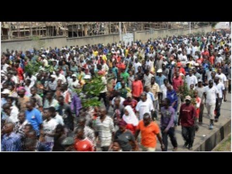 Thousands protest the EU parliament in Burundi