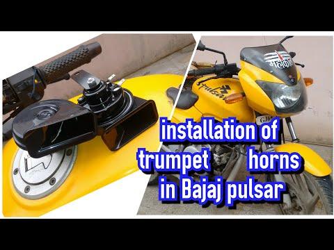 Installation of trumpet horns in bajaj pulser