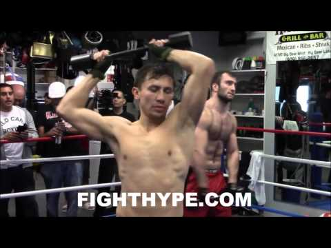 GENNADY GOLOVKIN CRUSHES STRENGTH TRAINING WITH EASE; THROWS WEIGHT AROUND LIKE IT'S NOTHING