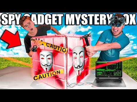 $10,000 SPY MYSTERY BOX!Box Fort Bank Heist! Toys, Gadgets & More!