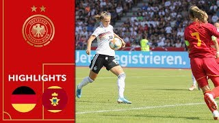 Germany vs. Montenegro 10-0 | Highlights | Women's Euro Qualification