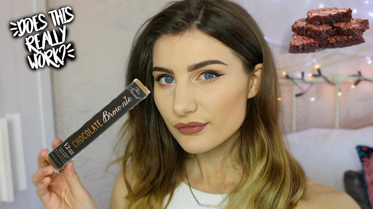 69509a94d7 NEW!! Too Faced Chocolate Brow-nie pencil. DOES IT REALLY WORK ...