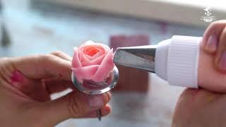 як зробити квіти з крему