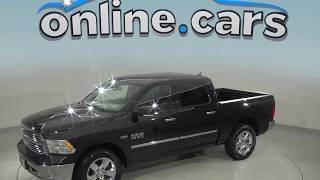 A99133JA Used 2016 Ram 1500 SLT 4WD Crew Cab Black Test Drive, Review, For Sale