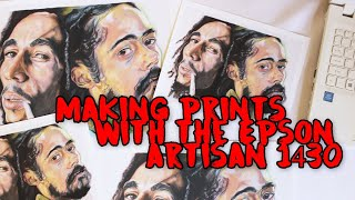 Making my own prints! Epson Artisan 1430 Unboxing & Demo + Print Announcement
