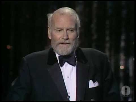 Sir Laurence Olivier receiving an Honorary Oscar®