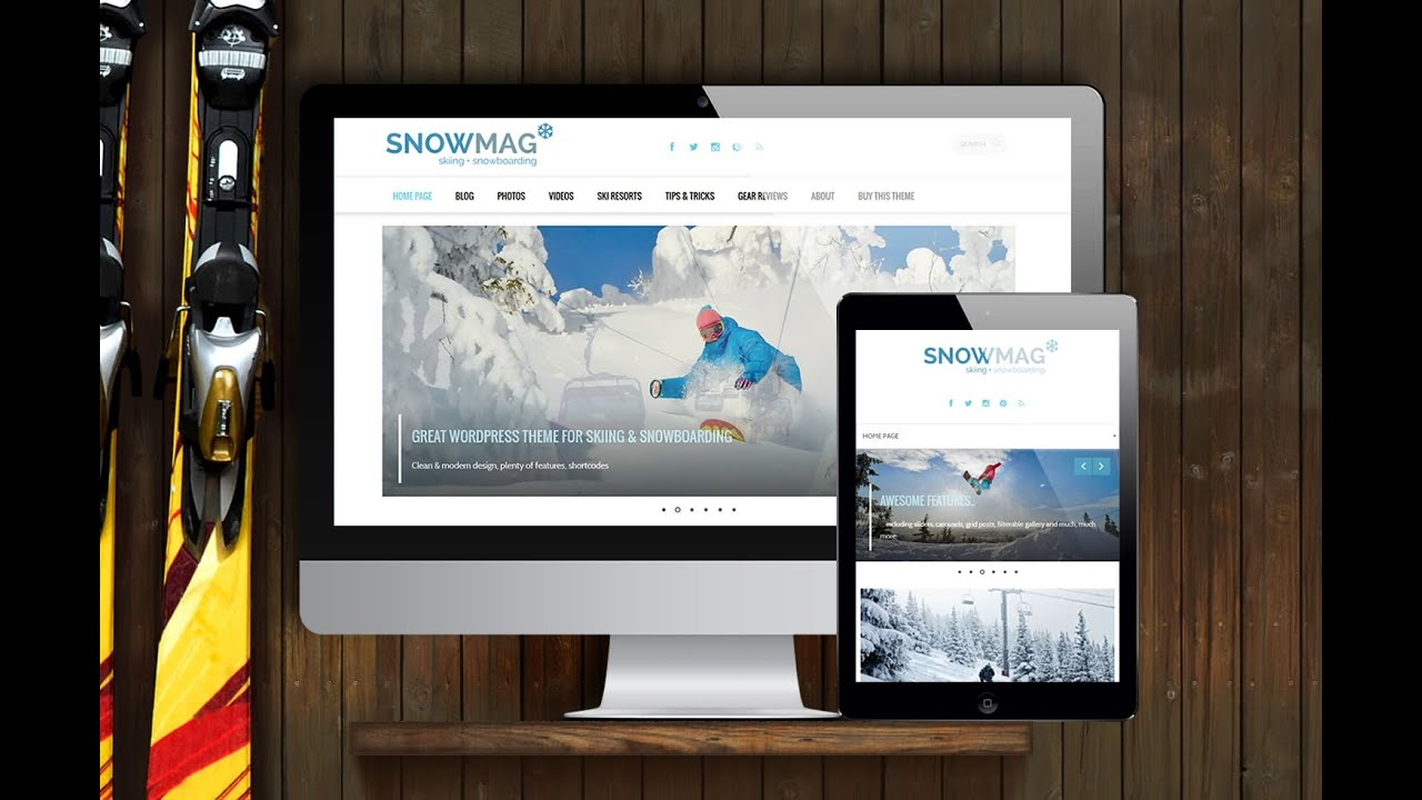 SnowMag - Winter Sports WordPress Theme - Snowboarding & Skiing ...