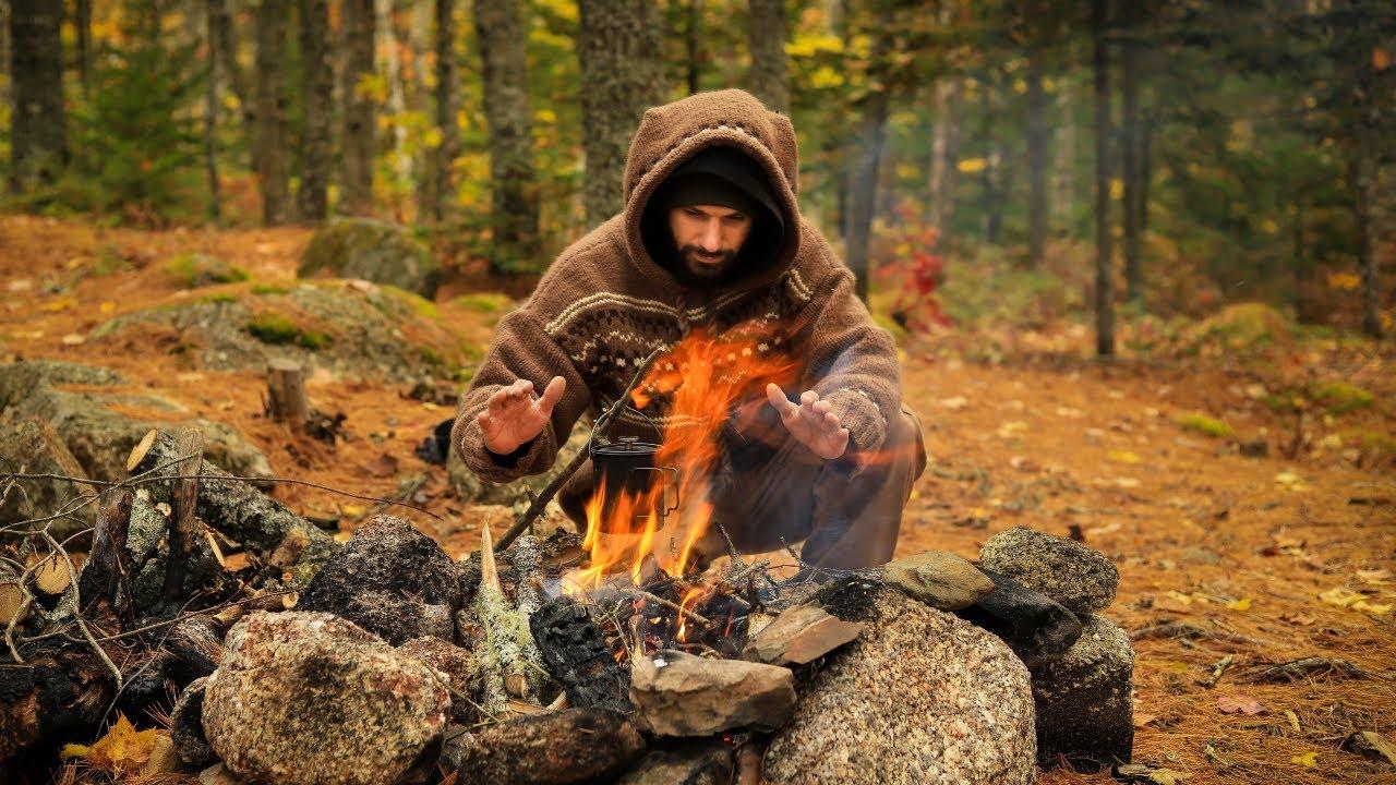 Download Hot Tent Camping In Fall Season