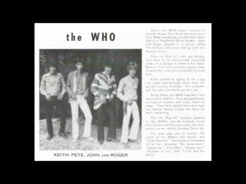 Who 1968 Sellout Interview January Sydney Australia 2UW