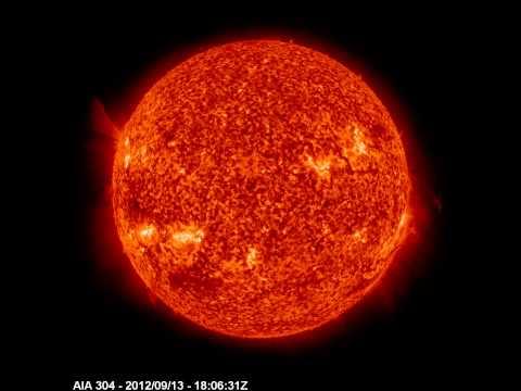 El Sol visto por SDO (Solar Dynamic Observatory - Telescopio AIA 304 A°)