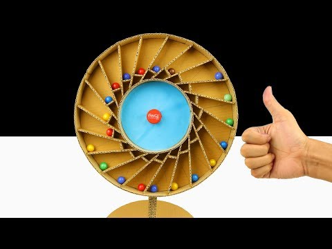 wow! Amazing Diy Racing Spiral Machine With Wheel Marble from cardboard