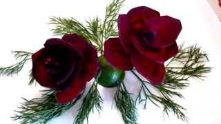 Цветы из свеклы! Украшения из овощей! Flowers from beet! Decoration of Vegetables!