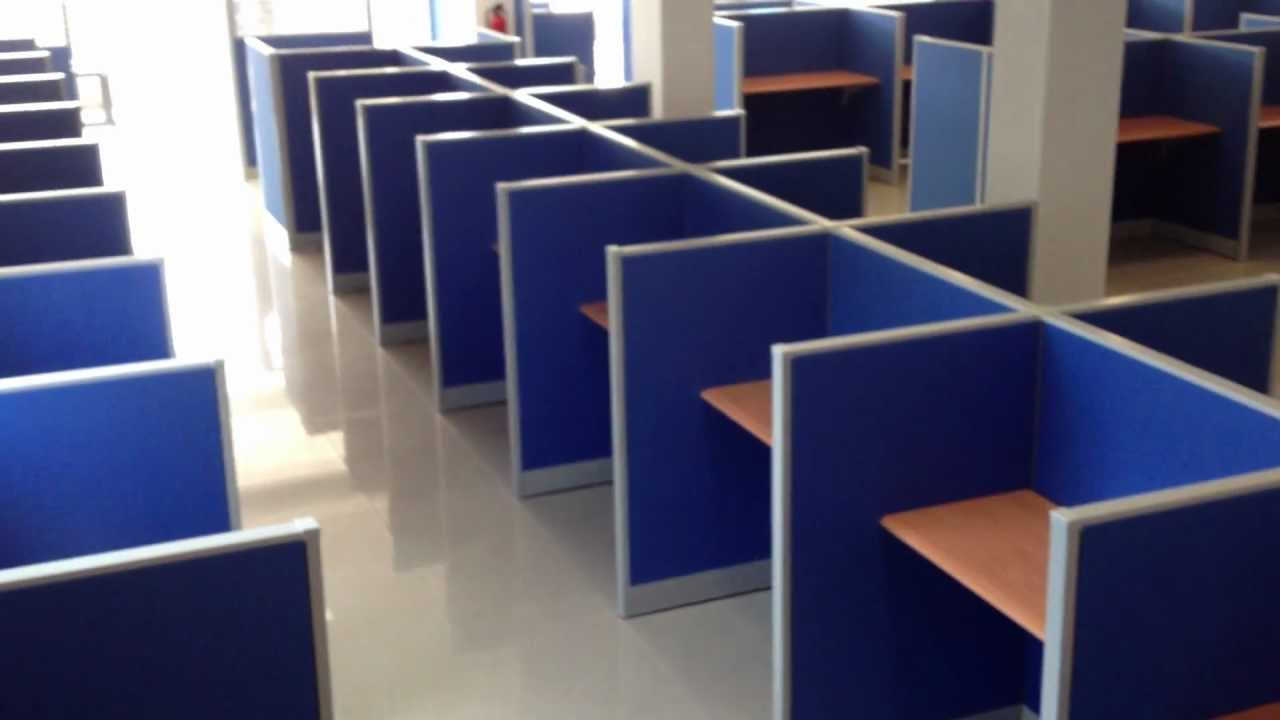 Video divisiones modulares call center vista1 youtube for Muebles para call center