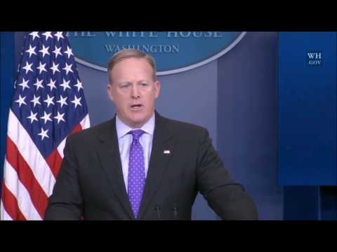 WASHINGTON: 2-8-17. Trump Admin Spokesman Sean Spicer Update & Press Q&A.