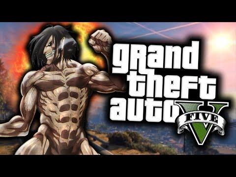 GTA 5 Mod Indonesia - ATTACK on Titan di Los Santos