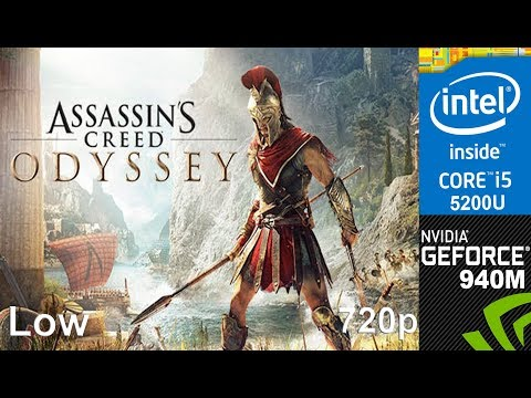Assassin's Creed Odyssey  on 940m + Core i5 5200u, HP Pavilion 15 AB032TX Laptop, Low Setting, 720p
