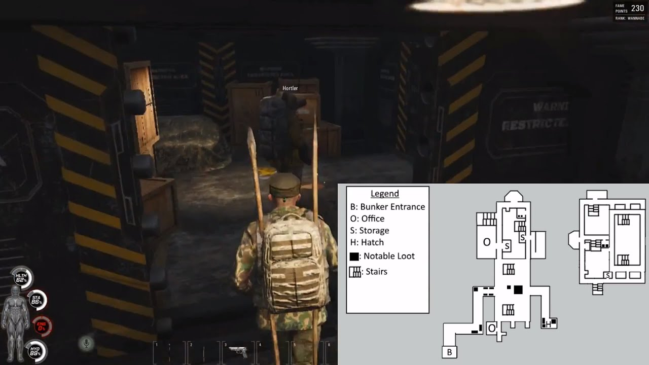 Scum Karte.Scum Bunker Tutorial D4 Entry And Exit With Maps