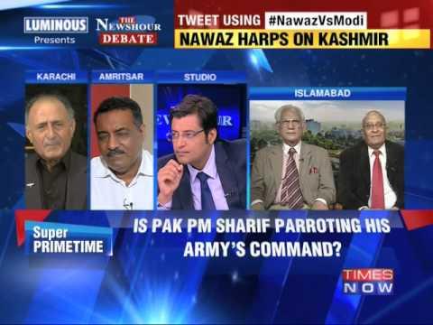 The Newshour  Debate: Nawaz Sharif Vs Narendra Modi - Part 1 (14th August 2014)