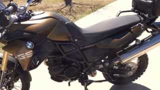 2013 F800GS Kalamata stock walk around video