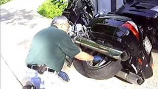 Changing the rear wheel on a Goldwing GL1800