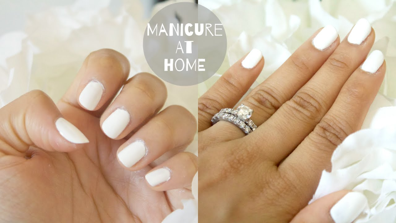 How To Do A Manicure At Home | How To Paint Nails