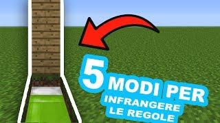 5 MODI per INFRANGERE le REGOLE su MINECRAFT PE! Pocket Edition ITA