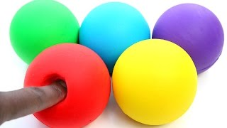 DIY How To Make Perfect Play Doh Balls Mighty Toys Modelling Clay Emoji And Mickey Mouse Play Dough