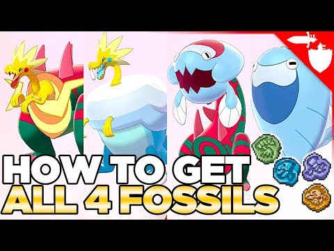 How To Get All Fossil Pokemon - Dracozolt, Arctozolt, Dracovish & Arctovish Pokemon Sword And Shield