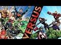 Primer video del canal, Liga de la Justicia vs Los Vengadores loquendo