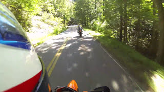 How 'NOT TO' ride the tail of the dragon !  Unless you want to crash..