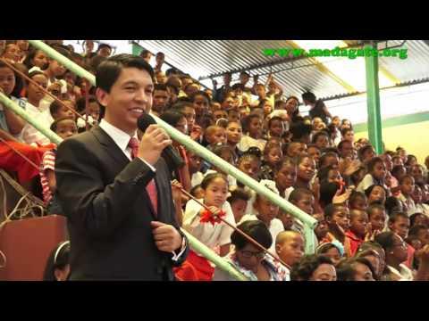 Andry Rajoelina. Akamasoa 25 Décembre 2016